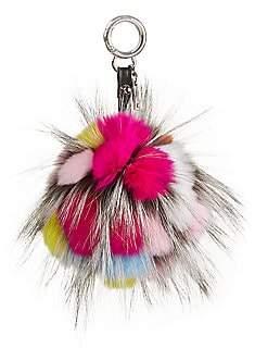 Julia & Stella Women's Rabbit & Fox Fur Pom-Pom Keychain