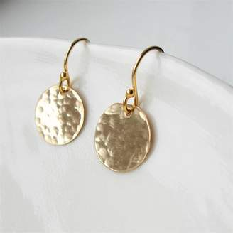 At Notonthehighstreet Hazey Designs Hammered Gold Disc Earrings