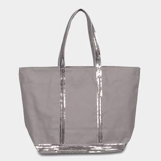Vanessa Bruno Canvas and Sequins Medium Tote Bag in Parma Cotton