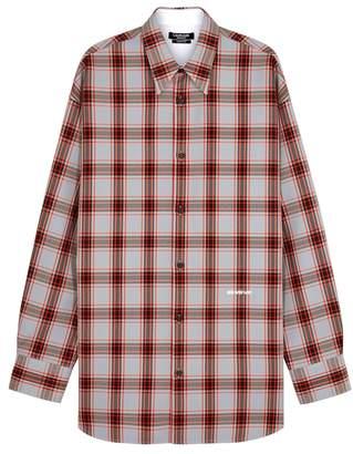 Calvin Klein Plaid Oversized Twill Shirt