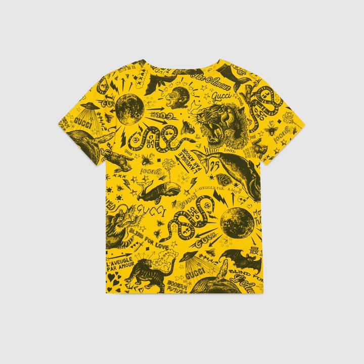 "Children's cotton t-shirt with ""Modern Future"" print 13"