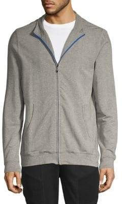 Saks Fifth Avenue French Terry Full-Zip Sweater