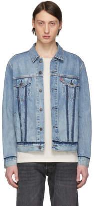 Levi's Levis Blue Inside Out Trucker Jacket