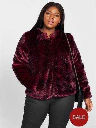 Junarose Faux Fur Jacket - Rumba Red