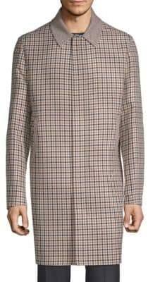 Valentino Plaid Wool Coat