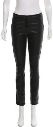 Diane von Furstenberg Leather Skinny Pants