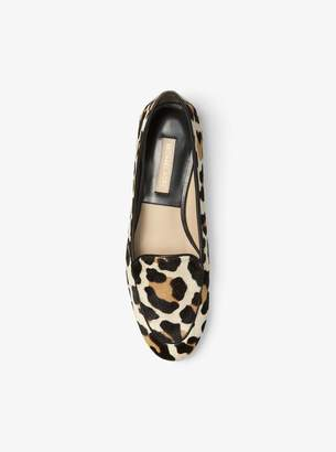Michael Kors Jeslyn Leopard Calf Hair Loafer