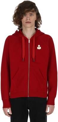 Isabel Marant Meryl Hooded Zip-Up Cotton Sweatshirt