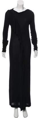 Jean Paul Gaultier Ruffle-Accented Maxi Dress