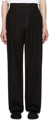 Raf Simons Black Buckle Trousers $1,035 thestylecure.com