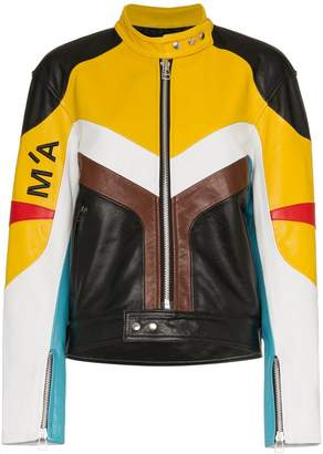 Marques Almeida Marques'almeida Panelled leather biker jacket