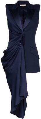 Alexander McQueen asymmetric draped sleeveless blazer