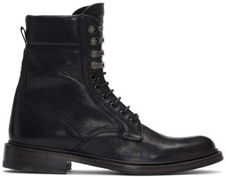 Rag & Bone Black Spencer Military Boots
