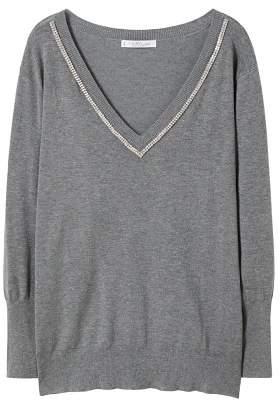 Violeta BY MANGO Crystal detail sweatshirt