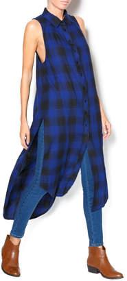 Bobi Plaid Sleeveless Shirt
