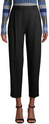 Diane von Furstenberg Women's Wool-Blend Cropped Pants
