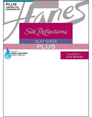 Hanes Plus Sheer Control Top Enhanced Toe Pantyhose