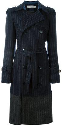 Golden Goose Deluxe Brand pinstripe trench coat - women - Polyamide/Viscose/Virgin Wool - M
