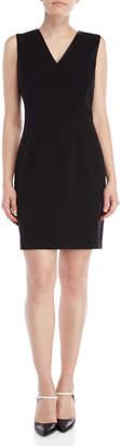 Tahari Gwenyth V-Neck Dress