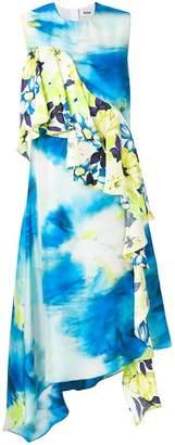 MSGM patterned ruffle dress