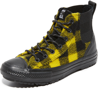 Converse Chuck Taylor x Woolrich All Star Chelsea High Top Sneakers $90 thestylecure.com