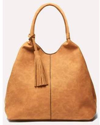 Dorothy Perkins Womens Tan Unstructured Hobo Bag