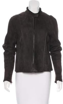 Calvin Klein Suede Stand Collar Jacket
