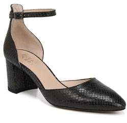 Franco Sarto Keena Leather Block Heel Pumps