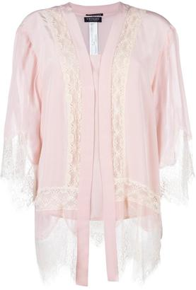 Twin-Set lace panel cardigan $247.60 thestylecure.com
