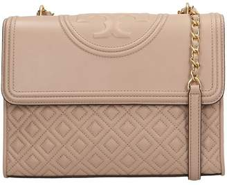 Tory Burch Taupe Quilted Leather Fleming Convert Bag