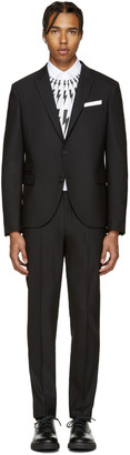Neil Barrett Black Classic Skinny Suit $1,375 thestylecure.com