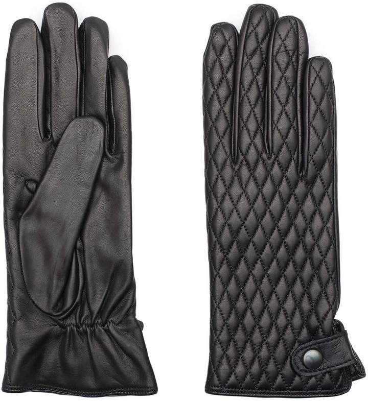 Dalgado - Handmade Nappa Leather Gloves Black Giovanna