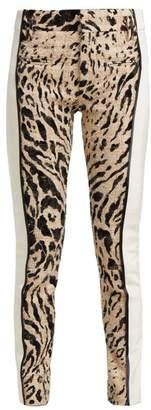 Haider Ackermann Panelled Leopard Print Tweed Trousers - Womens - Cream Multi