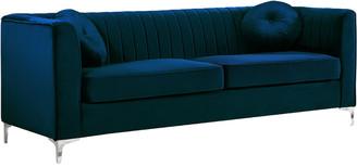 Isa Belle Verlaine Isabelle Navy Velvet Sofa