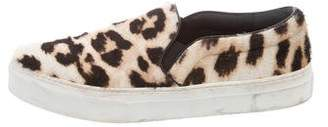 Celine Leopard Slip-On Sneakers