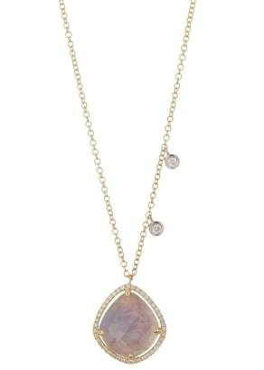 Meira T 14K Yellow Gold Tanzanite, White Topaz, & Diamond Necklace
