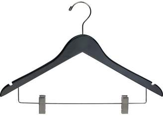 Laundry by Shelli Segal Rebrilliant Wooden Combo Hanger with Adjustable Cushion Clips