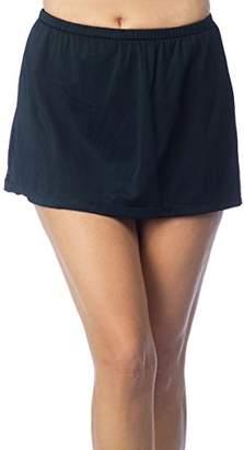 Maxine Of Hollywood Women's Mid Rise Skirted Swim Pant Swimsuit