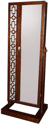 Asstd National Brand Amelia Cherry Cheval Mirror Jewelry Armoire