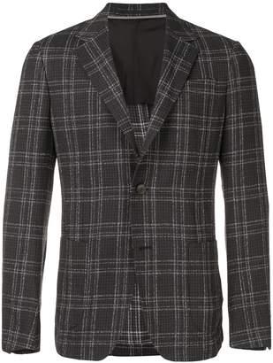 Ermenegildo Zegna check knitted blazer