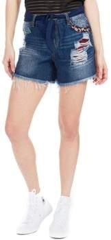 Shorts - Denim-Shorts für Damen - Exotic Blue