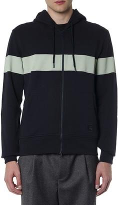 Fay Blue Cotton Sweatshirt With Hood