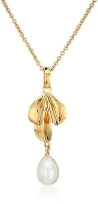 Nina Fresh Water Pearl Leaf/Pendant Necklace