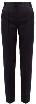 Pallas X Claire Thomson Jonville X Claire Thomson-jonville - Ecuyer High Rise Wool Grain De Poudre Trousers - Womens - Navy