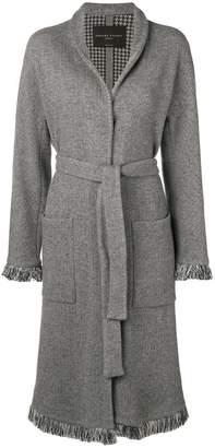Fabiana Filippi fringed edge belted coat