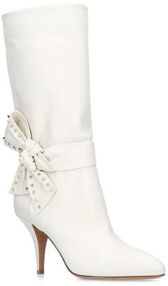 Valentino Side Bow Ankle Boots 85