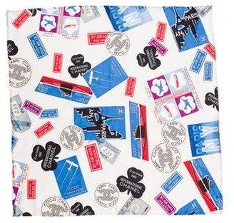 Chanel Paris-New York Silk Pocket Square
