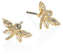 Swarovski Dragonfly Crystal Earrings