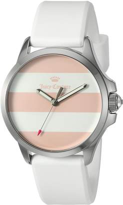 Juicy Couture Women's 'Jetsetter' Quartz Stainless Steel and Silicone Automatic Watch, Color:White (Model: 1901391)