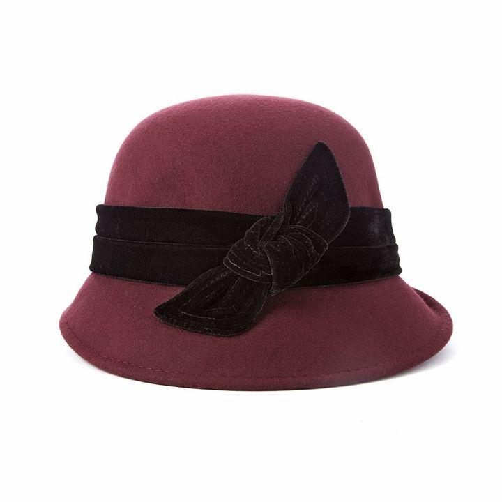 Scala Wool Felt Cloche Hat